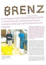Bericht in daheim lesen - Schwarz Coffee Shop GmbH