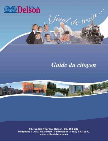 Guide du citoyen 2010 - Ville de Delson