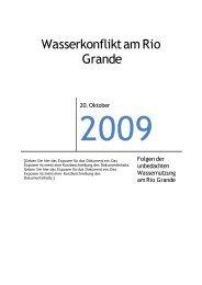 Gallei, Moritz: Wasserkonflikt am Rio Grande. - Gymnasium Lüchow