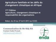 Agriculture familiale et les défis du Changement ... - African Climate