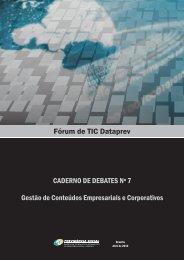 Caderno de Debates nº 7 - Dataprev