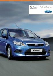 Feel the difference FordFocus Příslušenství - FORD Service