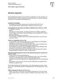 Merkblatt Waffen für Jägerinnen und Jäger (33 kB, PDF)