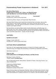 Pressemeldung Theater Vorpommern in ... - Greifswald online