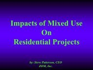 Impacts of Mixed Use On Residential Projects