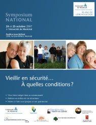 Télécharger le programme complet du symposium - Vieillir en libert?