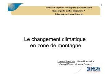 Le changement climatique en zone de montagne ... - GIS Alpes Jura