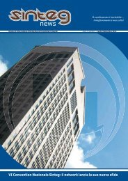 [PDF - 1.8 Mb] Sinteg News n° 1 / Anno 1 01/07/2011