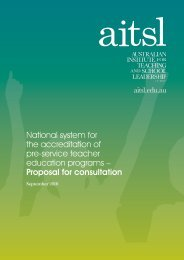 National system for the accreditation of pre‑service teacher ...