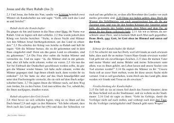 Josua und die Hure Rahab (Jos 2) - tiss