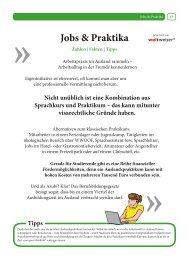 Jobs & Praktika - Stubenhocker - Die Zeitung für Auslandsaufenthalte