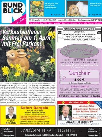 Verkaufsoffener Sonntag am 1. April mit Frei Parken!
