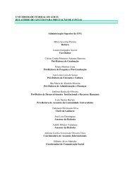 Relatório de Gestão 2004 - Pró-Reitoria de Administração e Finanças