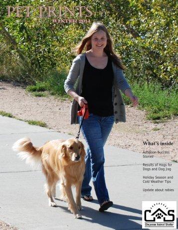 Winter 2011 Newsletter - Cheyenne Animal Shelter
