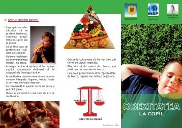 Pliant despre obezitatea la copil - Directia de Sanatate Publica Timis