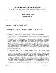 department of natural resources fy 2012-13 joint ... - Kent Lambert