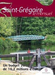 Saint-Grégoire, le Mensuel Février 2010