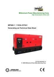 MPS60-1(1103A-33TG2) Generating set Technical Data Sheet
