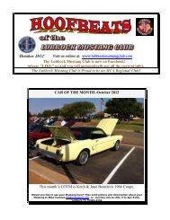 October 2012 - Lubbock Mustang Club