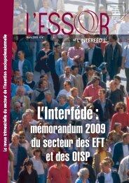 mémorandum 2009 du secteur des EFT et des OISP - Interfédé