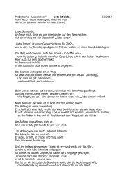 """Predigtreihe """"Liebe lernen"""" Gott ist Liebe 5.2.2012 Liebe Gemeinde ..."""
