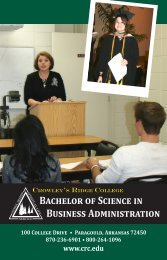 Bachelor of Science in Business Administration - Crowley's Ridge ...