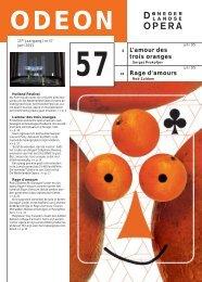 L'amour des trois oranges Rage d'amours - De Nederlandse Opera
