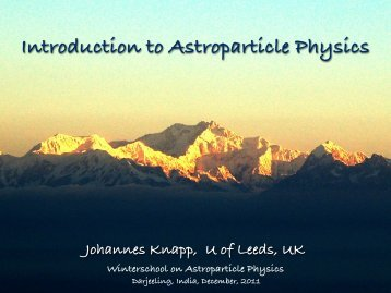 Introduction to Astroparticle Physics