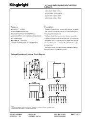 Package Dimensions & Internal Circuit Diagram Description 12.7mm ...