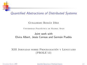 Quantified Abstractions of Distributed Systems - Babel Group