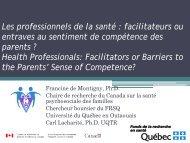 Francine de Montigny - Association pour la santé publique du Québec