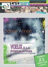 Bonne Année 2012 2012 - Mairie de Clapiers