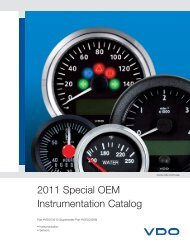 2011 Special OEM Instrumentation Catalog - Vehicle Controls