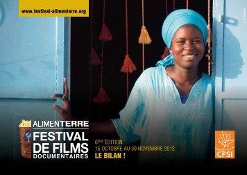 Téléchargez le bilan de l'édition 2012 du festival - ALIMENTERRE