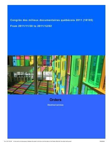 2. Electricity Services - Congrès des milieux documentaires