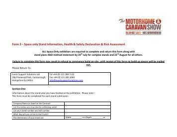 Form 2 - Motorhome and Caravan Show