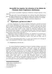 III. Espoirs humains et Espérance chrétienne.