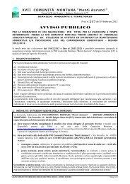AVVISO PUBBLICO - Comune di Castelforte
