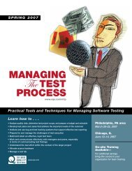 Managing the Testing Process - SQE.com