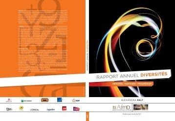 RAPPORT ANNUEL DIVERSITÉS - AFMD