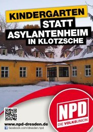Kindergarten statt Asylantenheim in Klotzsche - NPD-Dresden