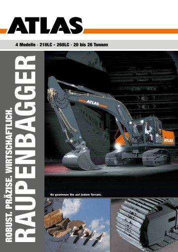 Raupenbagger Gesamtprospekt - ATLAS Hydraulikbagger