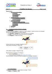 Préparation au Niveau 4 Cours 3 L'équilibre du plongeur. Page 1 sur 8