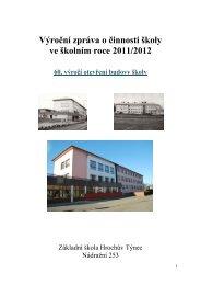 Výroční zpráva o činnosti školy - ZŠ Hrochův Týnec