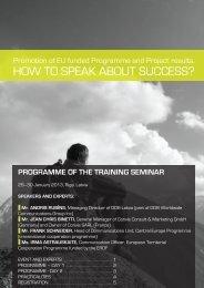 event programme - AIFM