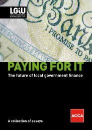 Paying For It: The Future of Local Government Finance - LGiU
