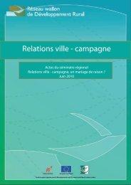 Relations ville - campagne - Réseau wallon de Développement rural