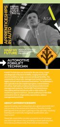 MAAP Brochure-Automotive Forklift Technician.indd - MAAP My Future