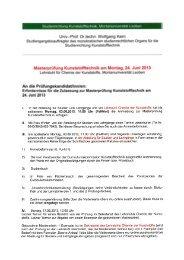 Masterprüfung Kunststofftechnik am Montag,24. Juni 2013 An die ...