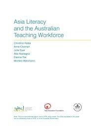 Asia Literacy and the Australian Teaching Workforce